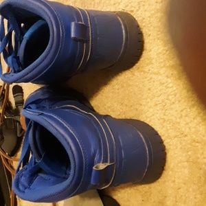 Nike Air Force Ones mid tops all blue